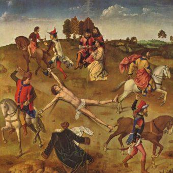 Tak jak święty Hipolit (na ilustracji) Piekarski został rozerwany przez konie.