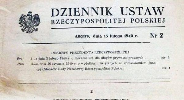 Polskie władze na uchodźstwie starały się zachować możliwie normalne działanie państwowych instytucji.