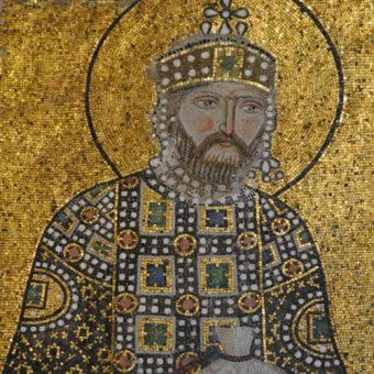 Mozaika przedstawiająca Konstantyna IX.