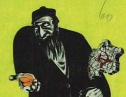 """Grafika z broszury wydanej na potrzeby berlińskiej wystawy """"Der Ewige Jude"""" z 1938 roku."""