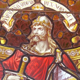 Harald III Srogi na witrażu (fot. domena publiczna)