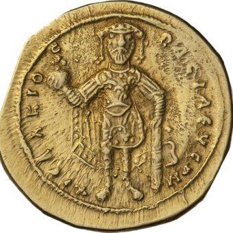 Izaak I Komnen na złotej monecie (fot. domena publiczna)