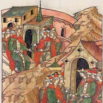 Izaak II z synem (fot. domena publiczna)