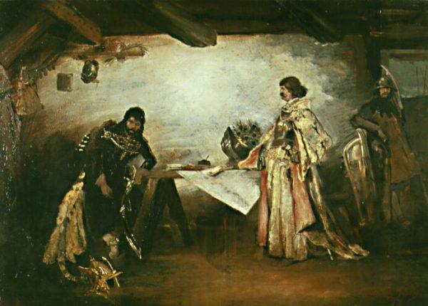 Maciej Korwin i władca Czech - Jerzy.