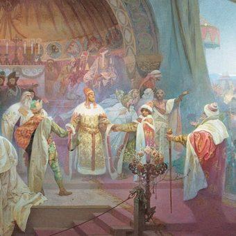 Przemysł Ottokar II na obrazie Alfonsa Muchy.