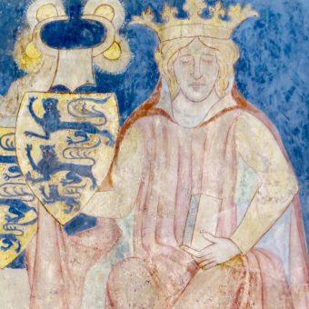 Fresk przedstawiający Kanuta VI.