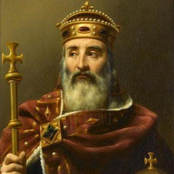 Portret Karola Wielkiego.