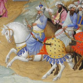 Manuel II Paleolog jako jeden z Trzech Króli – Melchior.