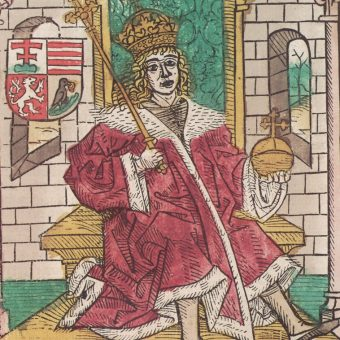 Wizerunek Macieja Korwina w kronice.