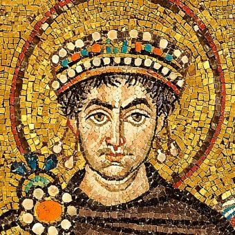 Fragment mozaiki z bazyliki w Rawennie.