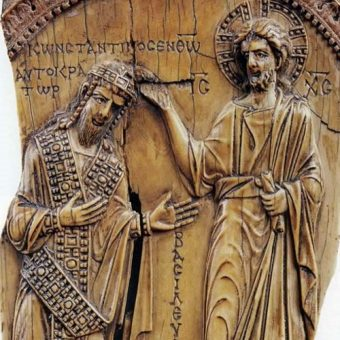 Chrystus namaszcza Konstantyna VII.