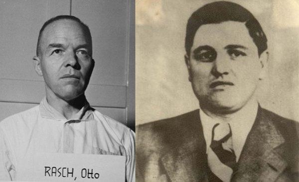 Dowódca SS-Einsatzgruppe C Otto Rasch oraz SS-Hauptscharführer Felix Landau.