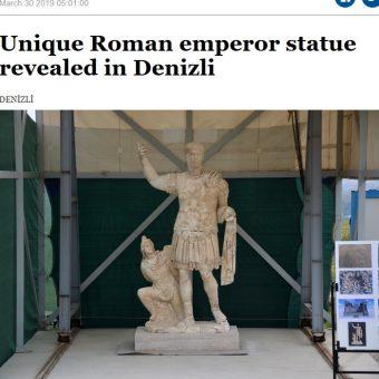 Statua Trajana. Screen z materiału przygotowanego przez Hurriyet Daily News