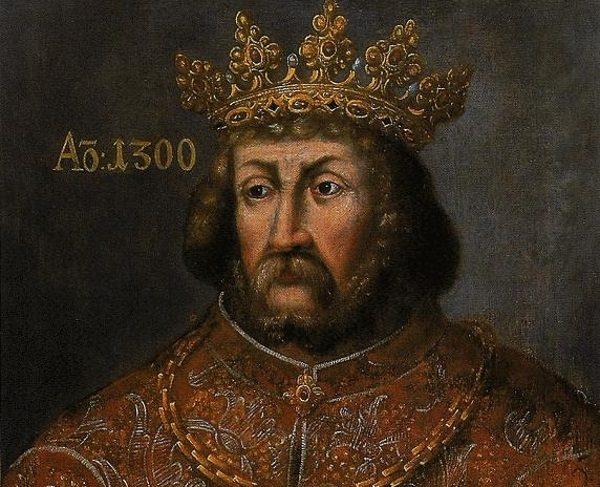 Po śmierci Henryka Probusa władza w Małopolsce miała przejść w ręce Przemysła II. Niespodziewanie okazało się, że ma on konkurenta - króla Czech Wacława II (na ilustracji).