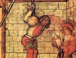 Jedną z tortur jakie czekały na templariuszy było wahadło.