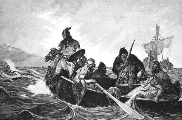 Mężczyzna pochowany w mauzoleum w Bodzi urodził się i zmarł w Polsce, jednak znaczną część życia spędził w Skandynawii – stąd wikińskie cechy pochówku (ilustracja poglądowa).