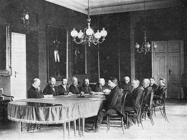 Ostatnie posiedzenie Magistratu Warszawy z udziałem prezydenta Sokrata Starynkiewicza.