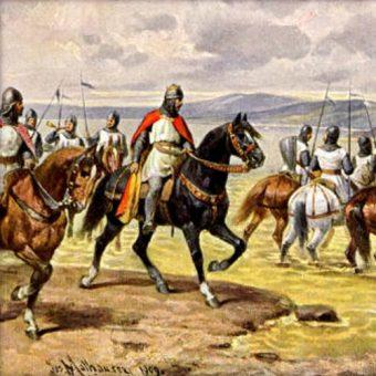 Władysław II na czele swoich wojsk.