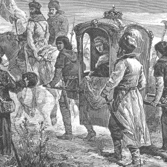 Szejch Achmet po upadku Wielkiej Ordy został zakładnikiem króla Aleksandra Jagiellończyka (na ilustracji).