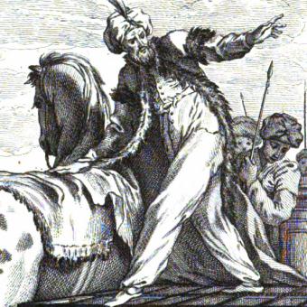 Timur doszedł do władzy dzięki pomocy emira Tamerlana (na il.).