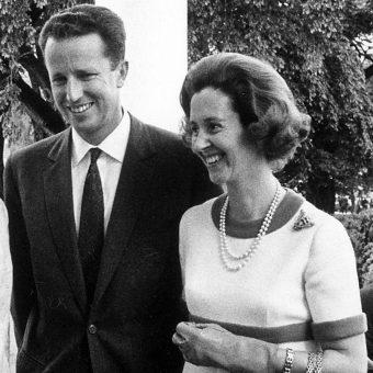 Król Baldwin I z żoną Fabiolą.