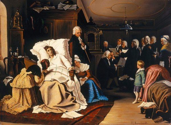 Ostatnie chwile Mozarta musiały wyglądać bardzo drastycznie. Kompozytor spuchł i miał drgawki.