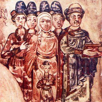 Światosław (pierwszy z prawej) z rodziną.