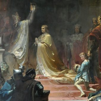 Koronacja cesarska Ludwika IV Bawarskiego (fot. domena publiczna)