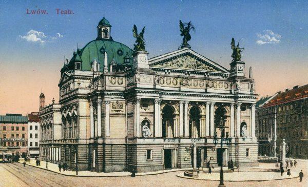 Nowy lwowski teatr był mieszanka wiedeńskiego neorenesansu i neorokoka.