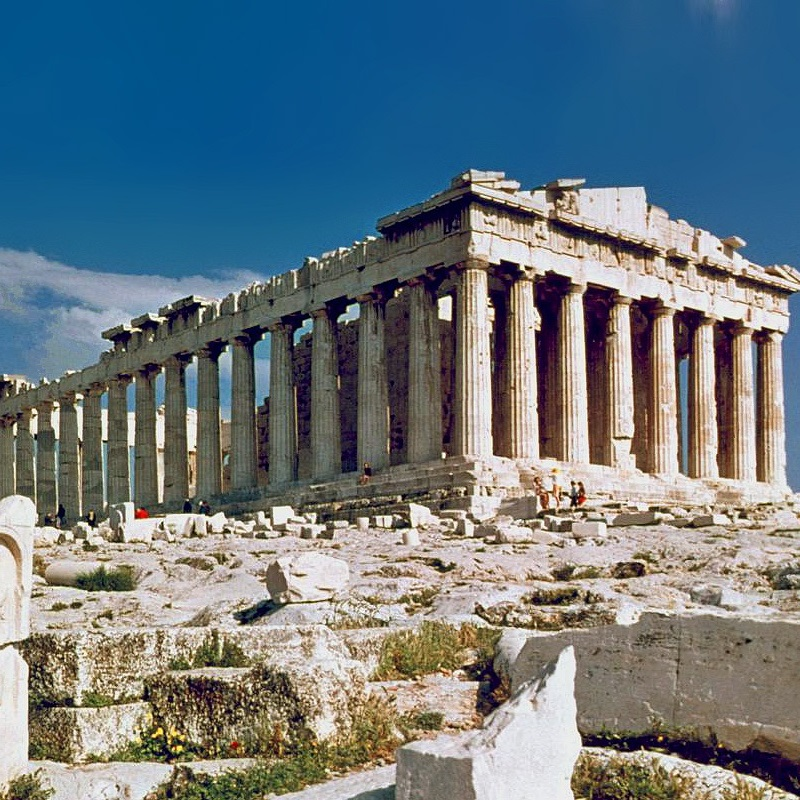 Partenon w 1978 roku (fot. Steve Swayne, lic. CC BY 2.0)
