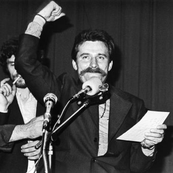Wałęsa odniósł w debacie niekwestionowane zwycięstwo. Zdjęcie z 1980 roku.