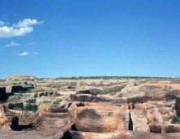 Ruiny Çatalhöyük po pierwszych wykopaliskach.