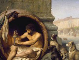 Diogenes i psy (fot. domena publiczna)