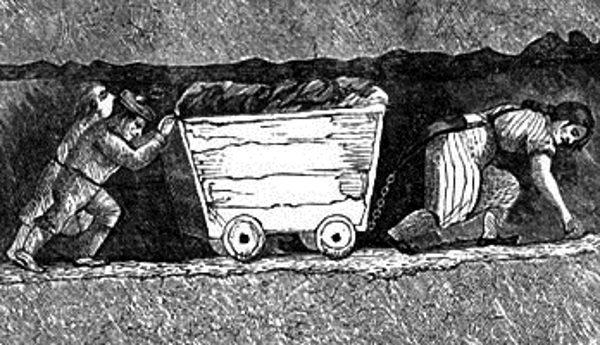 Dzieci pracowały często w straszliwych warunkach.