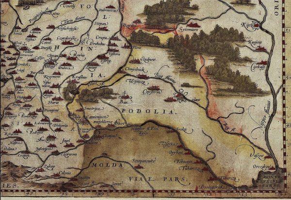 Okolice Zbaraża na mapie Wacława Grodeckiego.