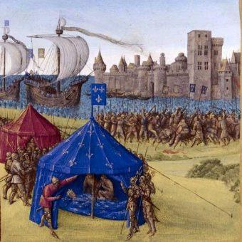 Śmierć Ludwika IX podczas siódmej krucjaty.