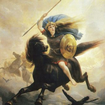 W nordyckiej mitologii nie brakuje wojowniczych kobiet i bogiń. Tymczasem archeolodzy znaleźli dotychczas zaledwie kilkadziesiąt pochówków, które mogły należeć do walecznych pań. (il. poglądowa)