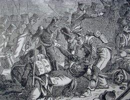 Generał Gudin został śmiertelnie zraniony na polu bitwy pod Górą Walutyną.