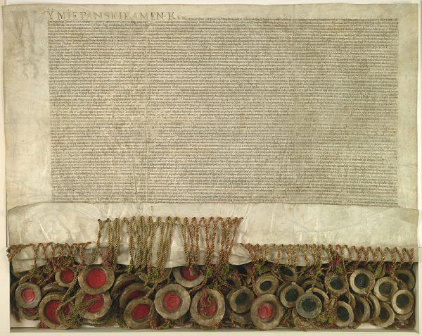 Akt Unii Lubelskiej 1 lipca 1569 roku.