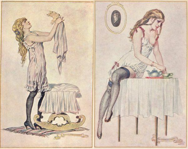 Niektórzy ilustratorzy drwili z kobiet, które wykorzystywały swoje wdzięki, by pozyskać brakujące dobra.