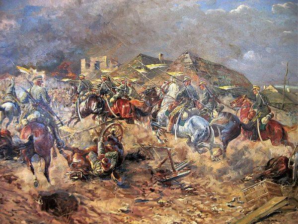 Atak 3 Pułku Ułanów Śląskich (Dzieci Warszawy) pod Słuckiem 10 sierpnia 1919 roku.