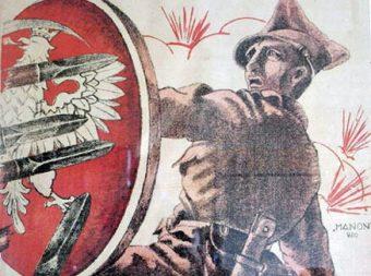 Fragment plakatu rekrutacyjnego z 1920 roku.