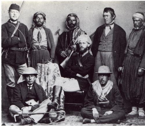 Uczestnicy ekspedycji w 1868 roku