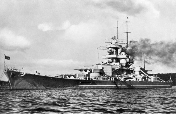 """Gneisenau"" w 1939 roku"