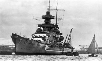 """Scharnhorst"" w 1939 roku"