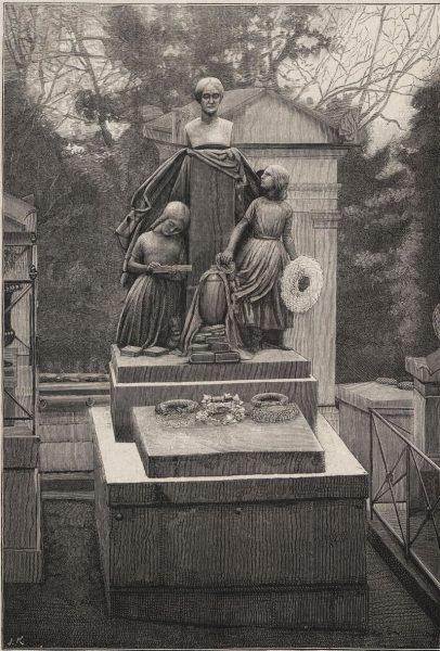 Grób Klementyny Hoffmanowej na cmentarzu Père-Lachaise