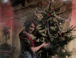 Kartka bożonarodzeniowa z okresu dwudziestolecia międzywojennego.