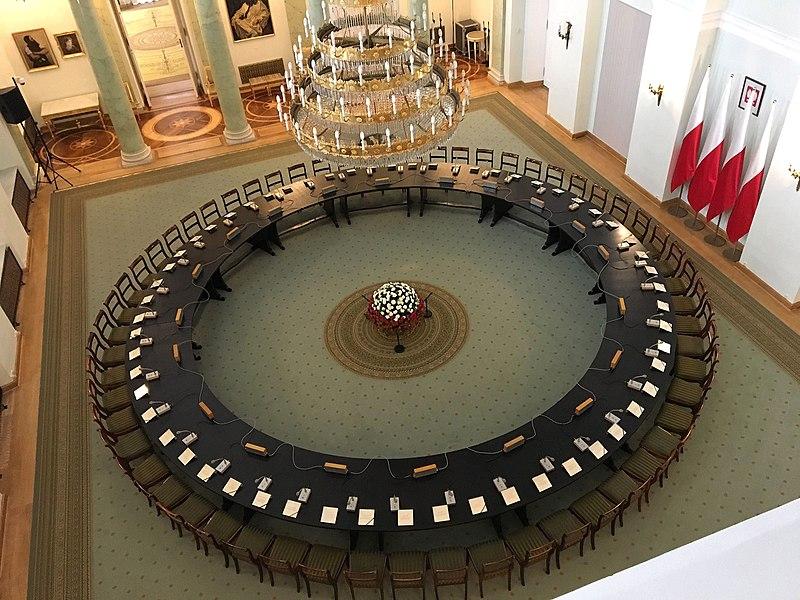 Okrągły Stół w Pałacu Prezydenckim w Warszawie.
