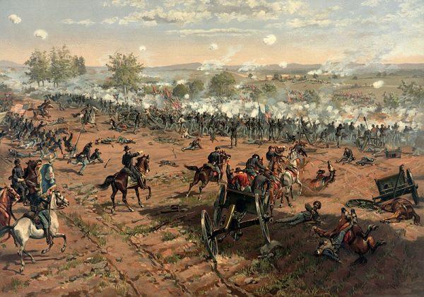 Całe trzy dni żołnierze Unii i Konfederacji – łącznie około 170 000 ludzi – mordowali się wzajemnie, w ostatecznym rozrachunku przekraczając liczbę zabitych we wcześniejszych wojnach
