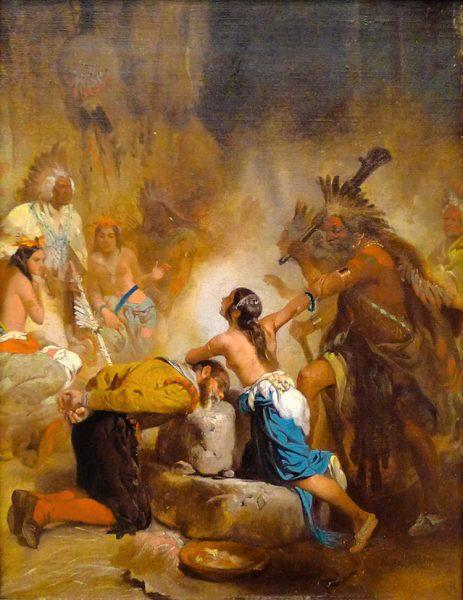 Pocahontas ratuje Johna Smitha
